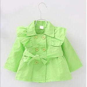 Other - Neon Green Trench Coat